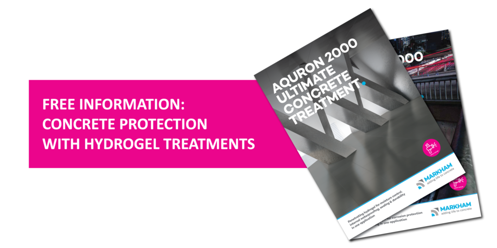 Download free information on Aquron 2000 and Aquron 7000 concrete hydrogel protection