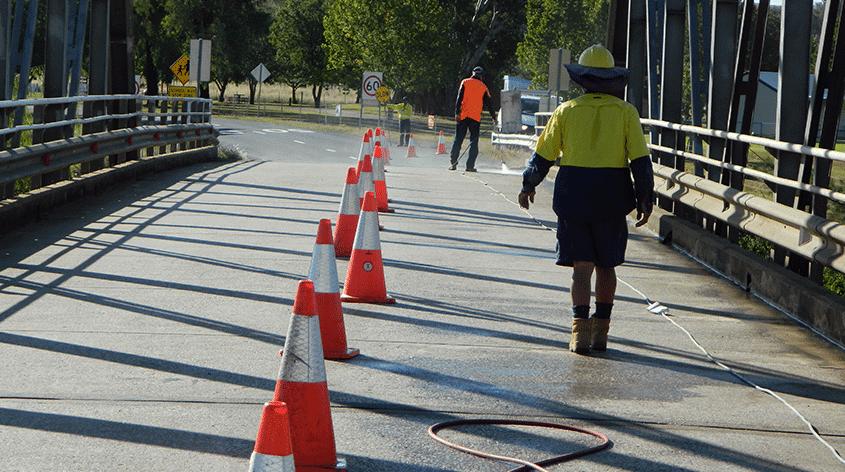 Protection for concrete infrastructure using Markham Aquron treatments