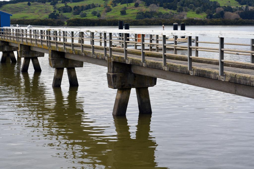 Ageing concrete wharf needs Aquron durability treatment